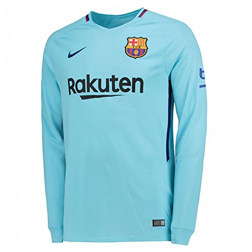 Nike 2017-2018 Barcelona Away Long Sleeve Football Soccer T-Shirt -
