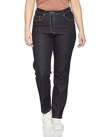 Ulla Popken Jeans Regular Fit Stretch K, Vaqueros para Mujer, Azul (Dunkelblau 93), 48