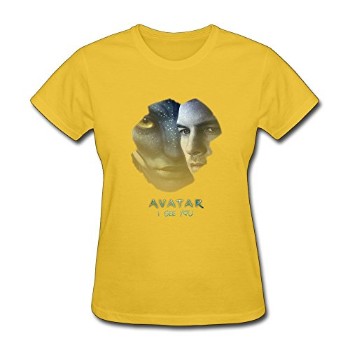 AOPO Avatar Shirt For Womens Small Yellow