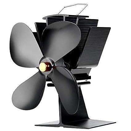 Yogasada Ventilador de Estufa accionado por Calor de Alta eficiencia Ultra silencioso y Respetuoso con el