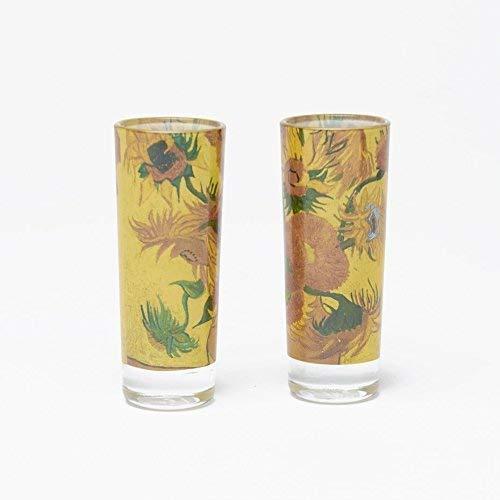 Van Gogh Shot Glasses Sunflowers Design - (2 pack) ()