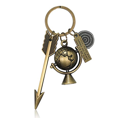hion Alloy Keychain Key Rings Pendant Metal Key Buckle Loop Charm Pendent Gift (F, One) ()