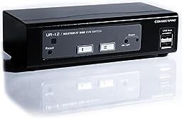 ConnectPRO UR-12-KIT , 2-port USB 2.0 KVM Switch with Cables