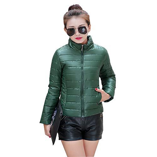 Size Fashion Dark Outerwear Green Down Short Outdoor Womens YIHIGH Jacket Coat Plus Jacket cfXXFO