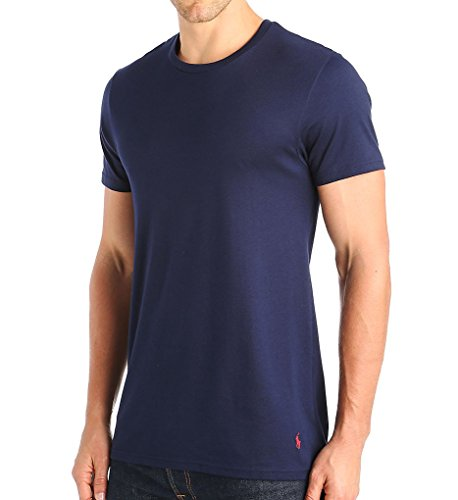 (Polo Ralph Lauren Men's Supreme Comfort Knit Crew Tee Cruise Navy Large )