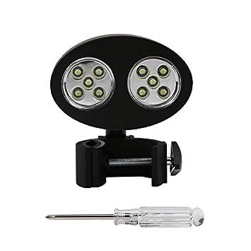 Ajustable 10 LED BARBACOA Parrilla Luz de Barbacoa Manija Exterior Montaje Clip Campamento Luces Lámpara de Resistencia al Calor Impermeable Con Tornillo: ...