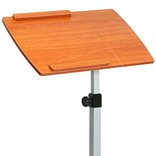 Topeakmart Adjustable Wood Overbed Laptop Computer Table