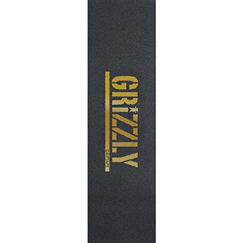 Grizzly Grip Tape Stamp Print In Gold Grip Tape - 9 x 33 by Grizzly
