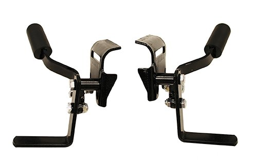 WLB050 Bolt On Black Wheel Lock, Invacare Style - for Detachable armrest wheelchairs -1 Pair