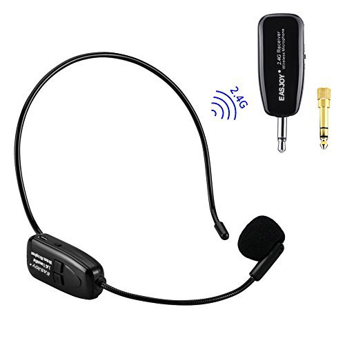 Blue Voice Bluetooth - 2.4G Wireless Microphone Headset Mic For Voice Amplifier,Speaker, Karaoke, Computer, Teaching, Meeting,Yoga, Singing
