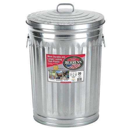 tin garbage can with lid - 8