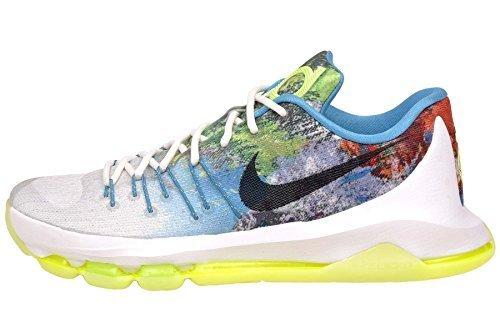 7af6c716080d Nike KD 8 N7 White Black Summit Men s Basketball Shoes Size 11