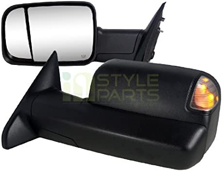 2009 2010 2011 2012 DODGE RAM 1500 MANUAL TOWING MIRROR DRIVER// LEFT SIDE LH
