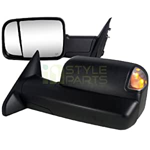 2010 2011 2012 dodge ram 2500 3500 towing mirrors power adjustment with heated. Black Bedroom Furniture Sets. Home Design Ideas