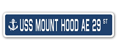 (USS Mount Hood AE 29 Street Sign us Navy Ship Veteran Sailor)