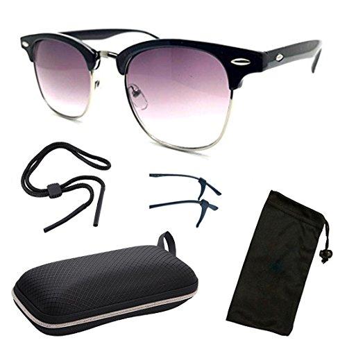 e4850840ca5 CPS Retro Stylish Fashion Designer Black Sun Readers Sunglasses For Women  Men Outdoor UV Protection Glasses