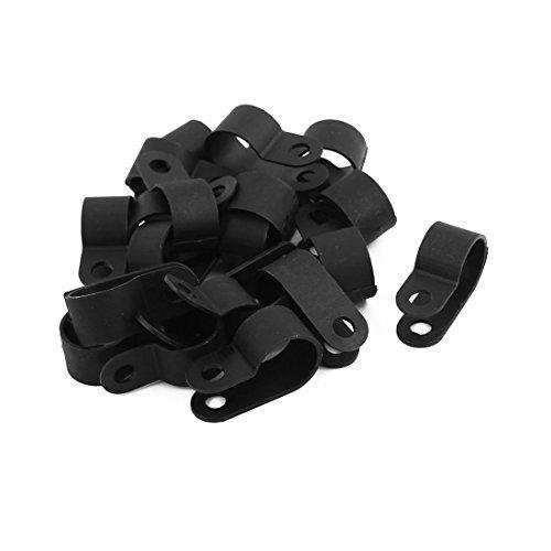 Amazon.com: eDealMax 20Pcs Nylon R Tipo 1/2 cuerda del Cable de alambre de la abrazadera 13.2mm Clip Sujetador Negro: Electronics