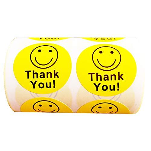 Smile Face Smiley - Smart Yellow -Thank You Circle Smile Smiley Face 1.5