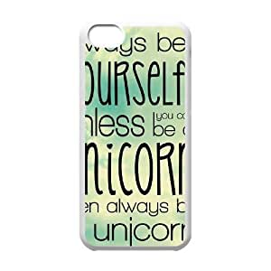 Unicorn Quote DIY Cell Phone Case for iPhone 4/4s LMc-39926 at LaiMc