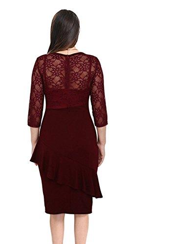 Vestido Yali xxxxl Tinto Encaje De vino 4xdzwxSfq