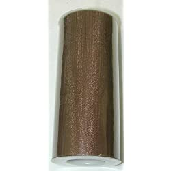 "6"" X 25 Yard Roll of Brown Tulle Fabric"