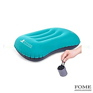 Inflating Pillow, FOME SPORTS|OUTDOORS Ultralight Portable Compact Camping Travel Inflating Pillow Comfortable for Hiking Backpacking One Year Warranty