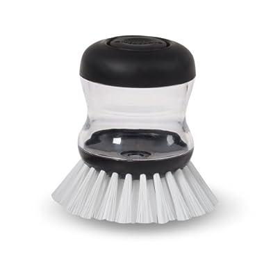 KitchenAid Soap Dispensing Palm Brush, Black