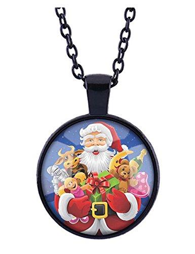 [Darkey Wang Woman Fashion Santa Retro Time Gem Crystal Necklace£¨2#£] (Quick Costume Ideas For Guys)