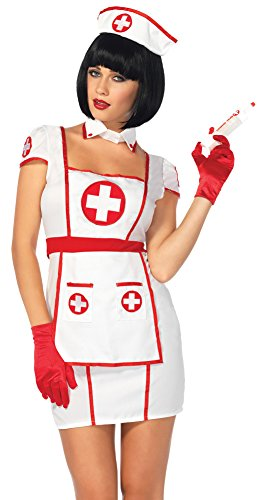 BESTPR1CE Womens Halloween Costume- Nurse Hospital Heartbreaker Adult Costume Medium-Large