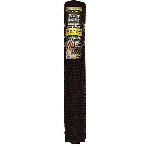 Plastic Mesh Netting - YARDGARD 889240A Fence, 25 Foot Black