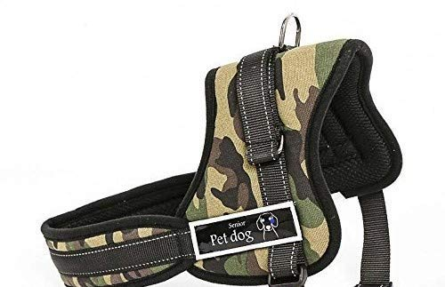 Pets Planet Service Dog Adjustable Harness Vest Cool Comfort Oxford Cloth for Dogs Chest Size (24-32 Inch) Medium