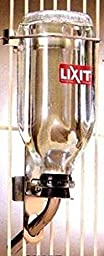 Lixit Glass Bird Water Bottle 16oz Tuff Tip 5/8 in