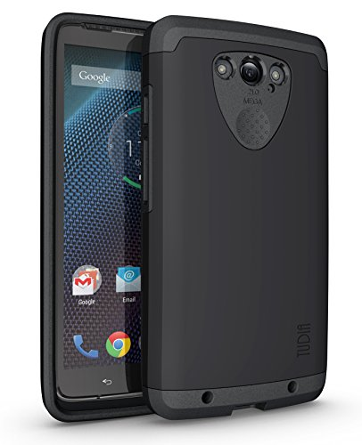 TUDIA Slim-Fit CYGEN Dual Layer Protective Case for Motorola DROID Turbo (Verizon) (NOT Compatible with Ballistic Nylon Version) (Matte Black)