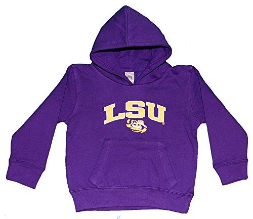 (NCAA LSU Tigers Hooded Fleece Top, Youth Medium, Purple)