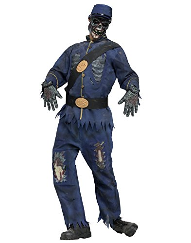Zombie Military Costume (Fun World Union Zombie ~ Halloween Costume, Adult one size)