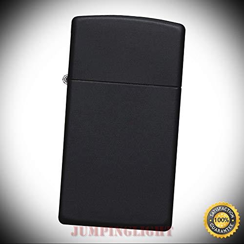 1618 Windproof Matte Black Slim Lighter - Premium Lighter Fluid (Comes Unfilled) - Made in USA! ()