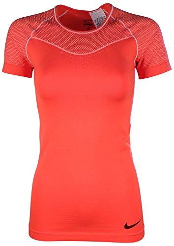 Nike Women's Dri-Fit Pro Hypercool Limitless Training T-Shirt-Light Crimson-XS