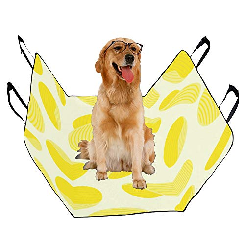 MOVTBA Fashion Oxford Pet Car Seat Potato Chips Snacks Thin and Crisp Waterproof Nonslip Canine Pet Dog Bed Hammock Convertible for Cars Trucks SUV ()
