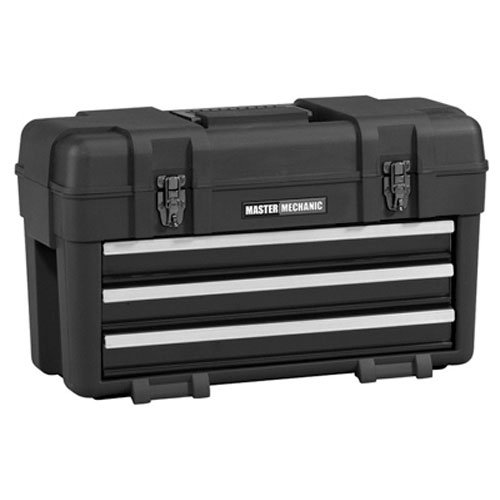 Waterloo Industries Mm23bk Westpointe Master Mechanic, 3 Drawer, Plastic Portable Chest