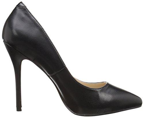 Cerrados Blk Leather Faux Zapatos Negro 20 para Mujer Amuse Pleaser tq1ZHH