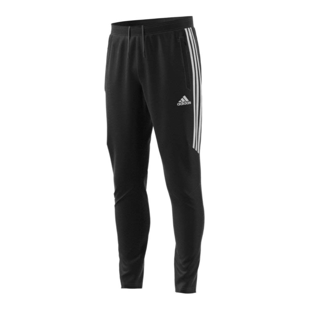 adidas Men's Soccer Tiro 17 Pants, Small, Black/White/White