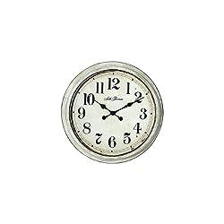 Seth Thomas Tiveolly Antiqued Khaki Antiqued Indoor/Outdoor Wall Clock