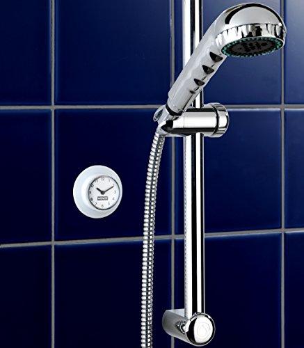 wenko 21823100 horloge pour salle de bains avec ventouse 2 pices amazonfr cuisine maison - Horloge Salle De Bain Ventouse