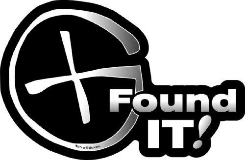 """ProSticker 2603 (One) 4"""" Geocaching Series Found It Decal Sticker"""