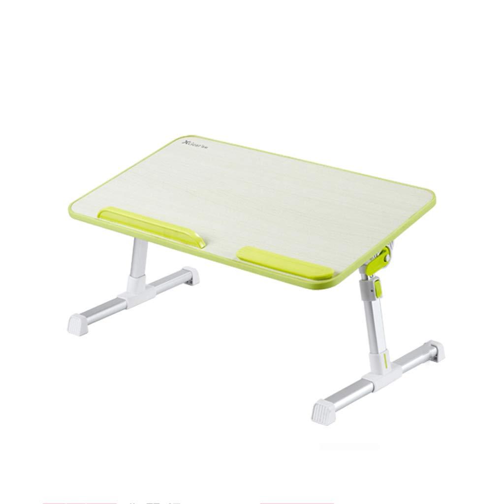 JIANPING Dormitorio per Studenti con scrivania Pieghevole, Regolabile in Altezza, scrivania da scrivania con Pigro Tavolo da Gioco verde 60x33x24 cm Tavolo (Dimensioni   S.)