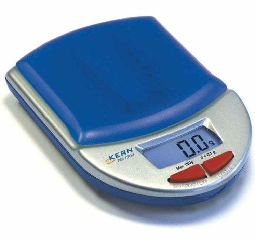 Designer pocket balance [Kern TEE 150-1] at a bargain price, Weighing Range [Max]: 150 g, Readout [d]: 0,1 g