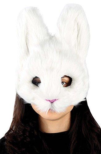 Mario Chiodo - White Bunny Mask - Standard - Vampire Bunny Costume