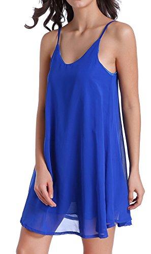 Women's Chiffon Sexy Sleepwear Slip Chemises Nightshirt