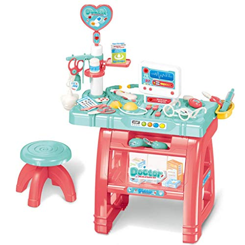 wodtoizi Kids Doctor Kit Dentist Toy w Table and Chair Pretend Play Dentist Set Medical Playset w Sounds and Lights Boys Girls Toddler Birthday  School Classroom Party Role Play Toys