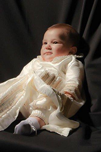 Heirloom Baby Boy's Christening Baptism Gown, Hand Made Ivory (Burbvus Ropones) by Burbvus (Image #5)